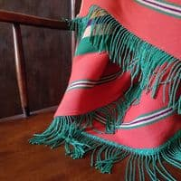 Striped Red and Green Throw